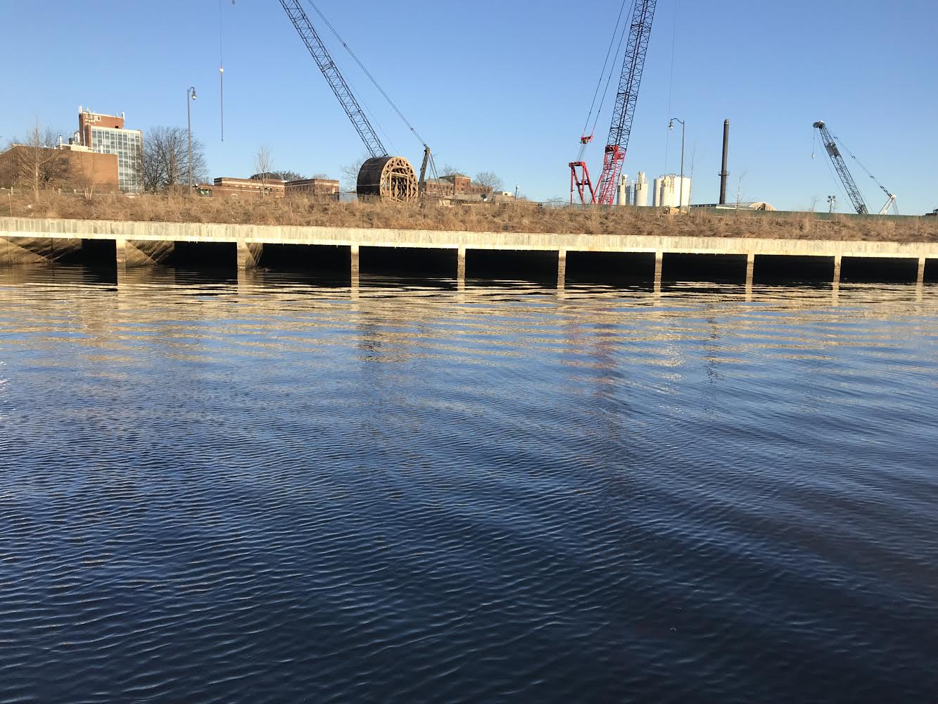 Before the Anacostia River Tunnel project was implemented, polluted waters would frequently overflow from these CSO outfalls into the river. Photo credit: Samantha Gleich