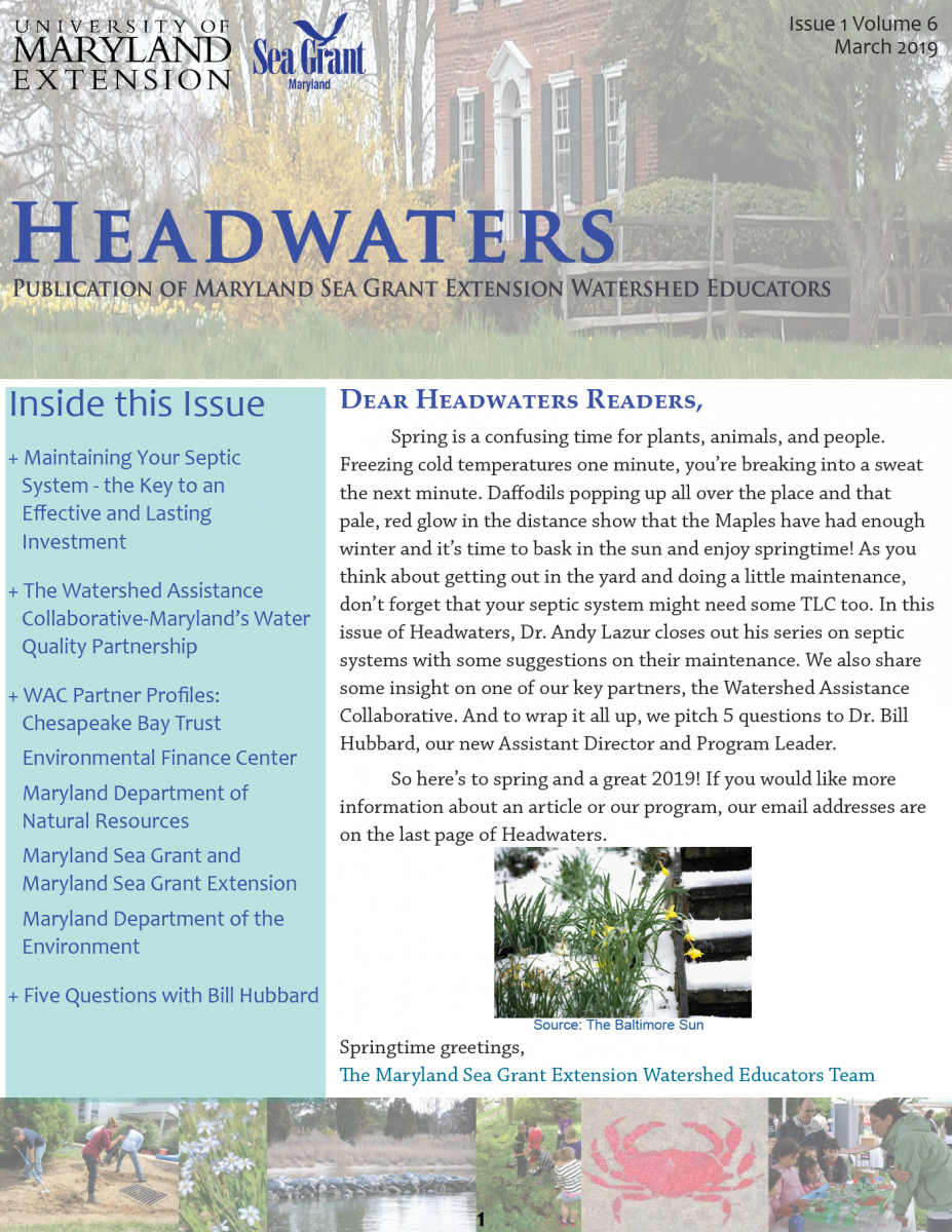 Front cover of Headwaters, Volume 6 Issue 1