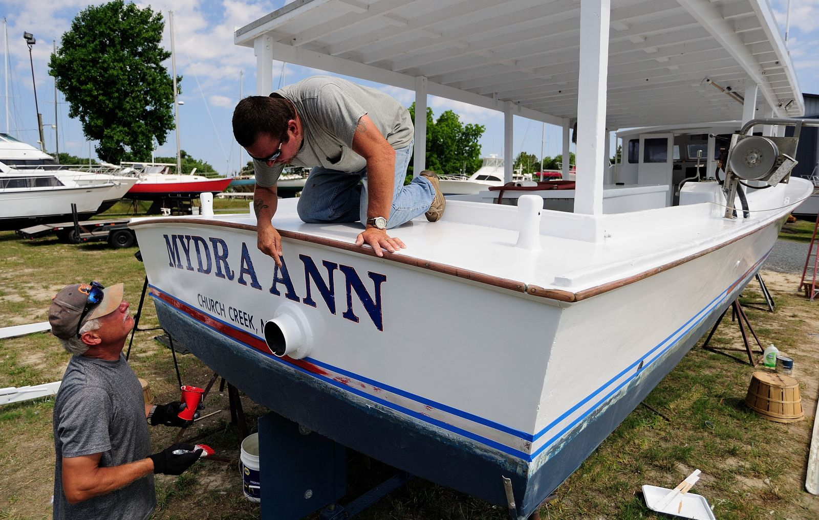 On the hard prepping a crab boat maryland sea grant for Outboard motors for sale maryland