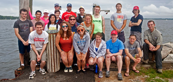 reu class of 2012 with leaders of orientation