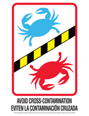poster avoid cross contamination-crabs