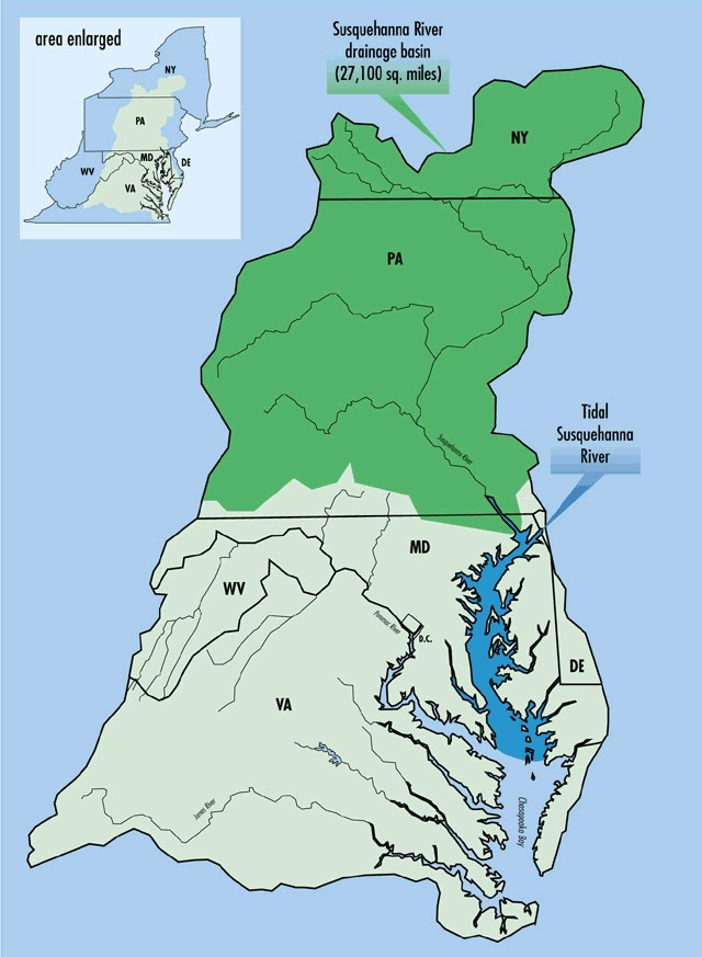 map of Susquehanna River watershed