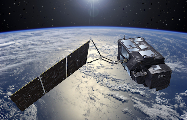 image of the Sentinel-3 satellite, launched by the European Space Agency