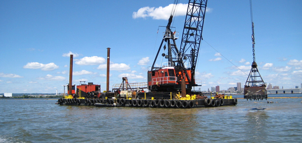 dredging shipping channel near baltimore
