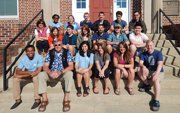 reu class of 2015 with orientation leaders