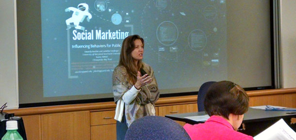 Amanda Rockler at a social marketing workhsop