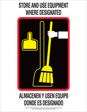 poster-store and use equipment