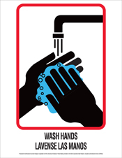 poster-wash hands