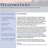 cover of issue of Headwaters newsletter