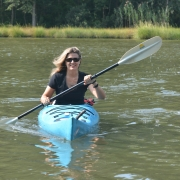 Lisa D. Tossey kayaking