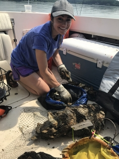 Katie Hornick in boat