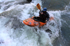 Kayaking down 7-foot falls rapid on the Chattooga River, SC. Photo credit: Chris Lakey